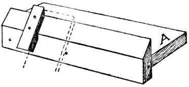 "Fig. 327.—""Donkey's Ear"" Shooting Board."