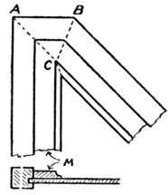 Fig. 330.—Wide     Mitred Moulding.