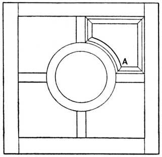 Fig. 331.—Door with Curved Mitres.