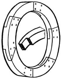 Fig. 336.—Circular Rim     in Halved Segments.