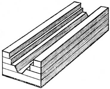 Fig. 342.—Half of Laminated Core Box.