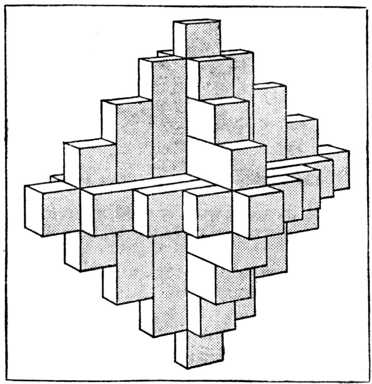 Fig. 369.—Sketch of the Completed Chinese Puzzle.