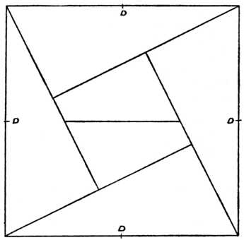 Six Piece Square Puzzle The Centres Of