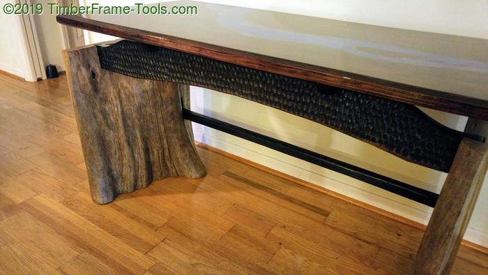 slab legged desk