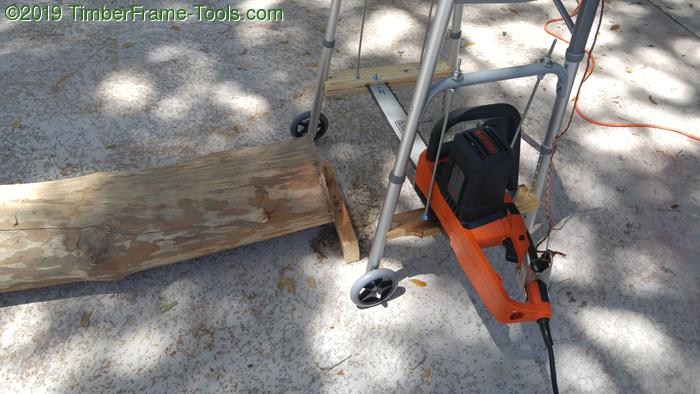 Walker based chainsaw mill