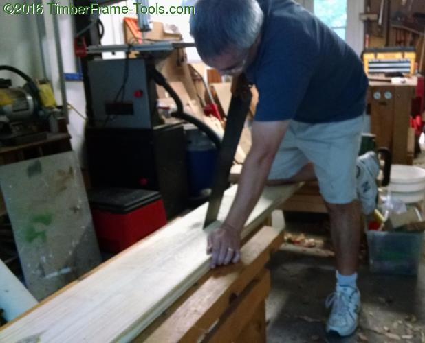 Ripping a 2x10 to make Bench Bull