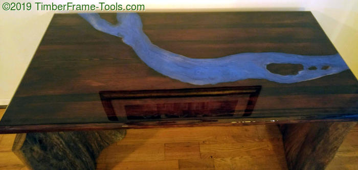 River table with islands