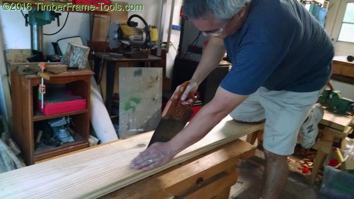 Rip sawing wood for Bulloxon.