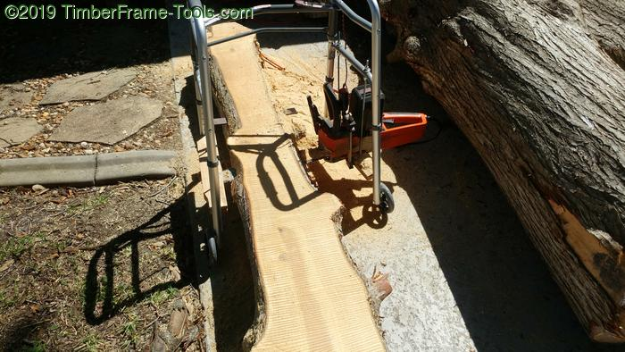 Ripping slabs with electric sawmill