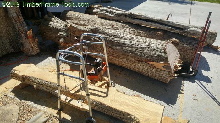 Slabbing with walker sawmill