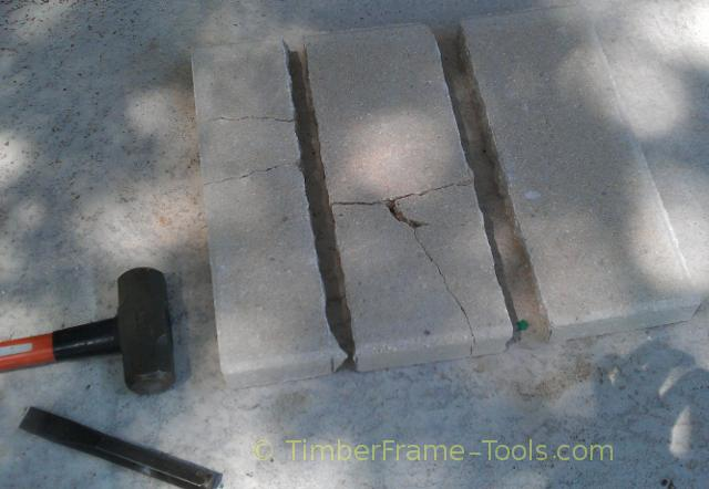 Cement block cutting