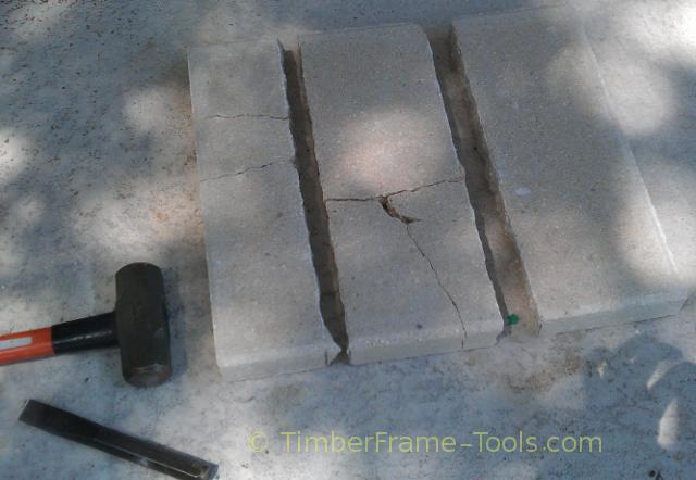 Cement block cutting