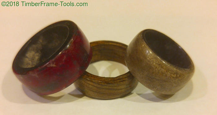 bent lamination rings of rose petal and cat hair