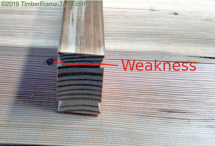 Flawed batten wood orientation