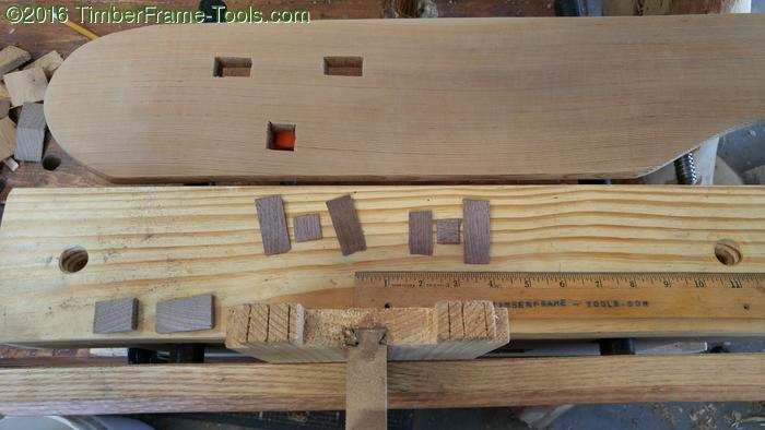 wedged tenons on adirondack chair