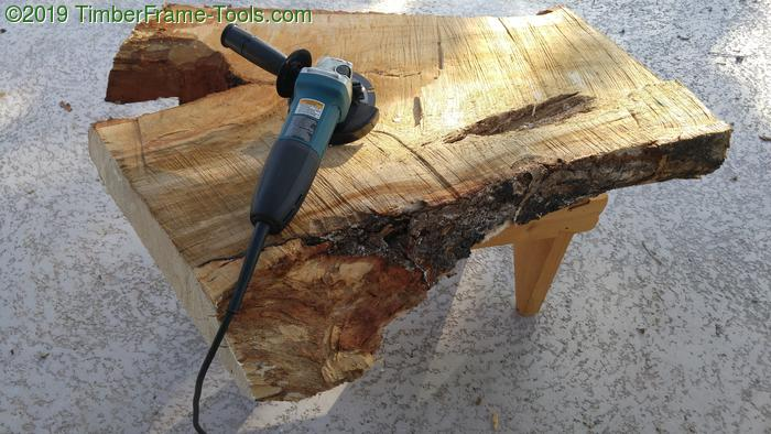 Shaping wood with an angle grinder