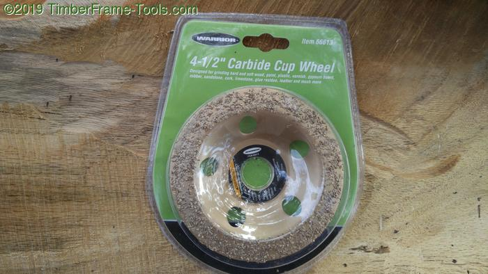 carbide cup wheel for carving wood.