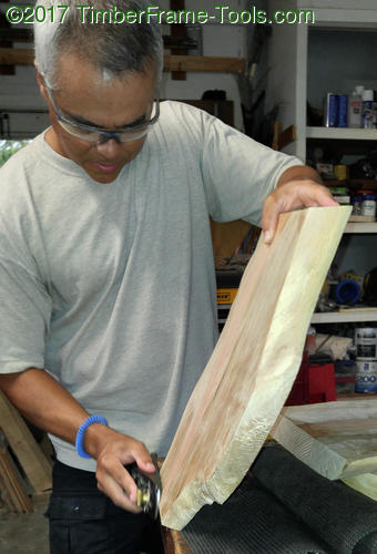 planing the tenon face