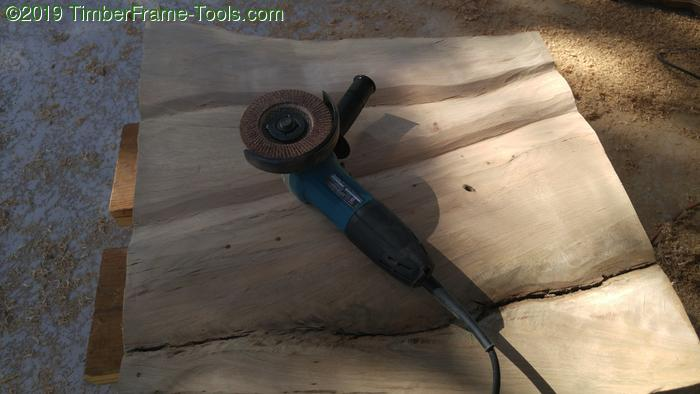 Flap disk for carving wood.