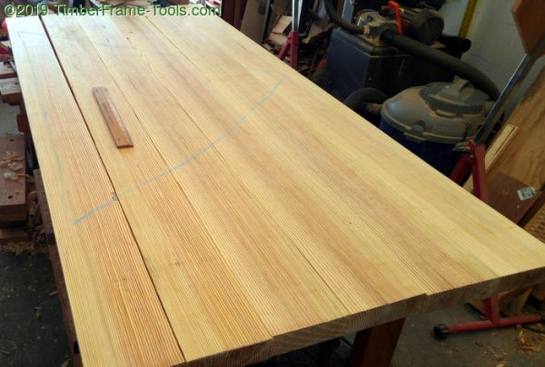 Southern Yellow Pine arranged for glue-up.