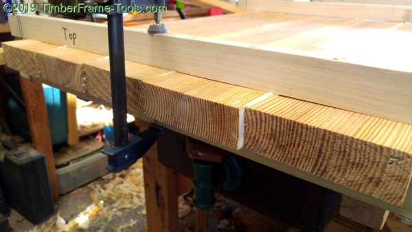 Clamp cauls and desktop glue-up.