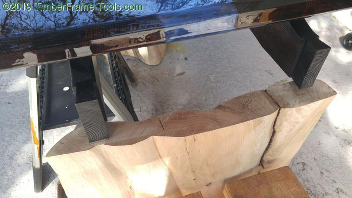 Marking the dovetail sockets