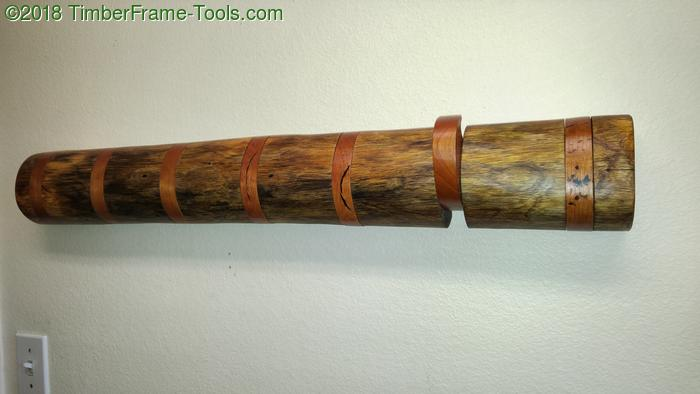 log flip down coat rack