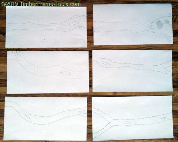 Brainstorming possible river patterns on paper samples.