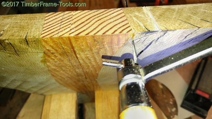 coping saw cutting legs