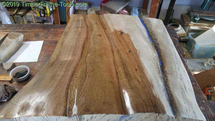 dark half tung oil on oak