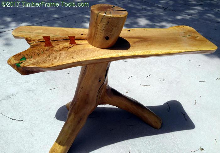 natural leg oak end table