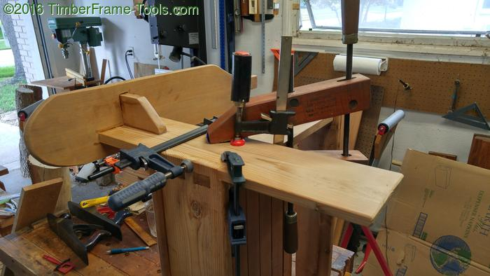 gluing front legs to frame