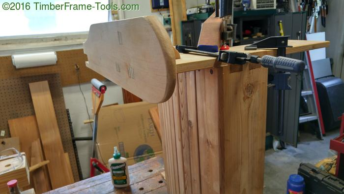 glue up adirondack chair arm