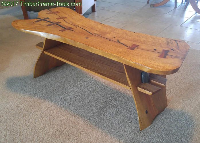 tung oil finished coffee table