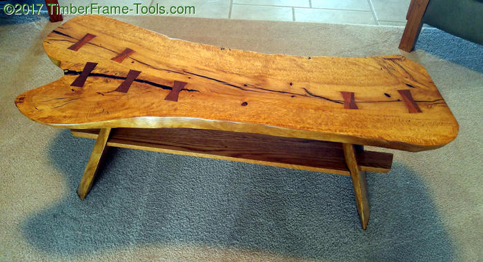 beautiful grain on laurel oak coffee table