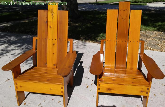 Cedar adirondack chair design