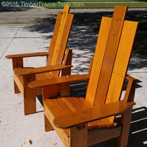 Wood Joiner Adirondack Chairs