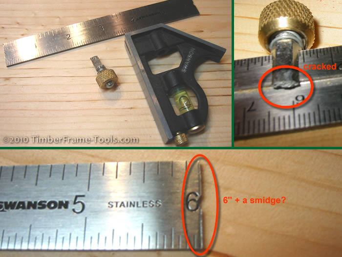 Timber Frame Tools » Combination Square Tuning