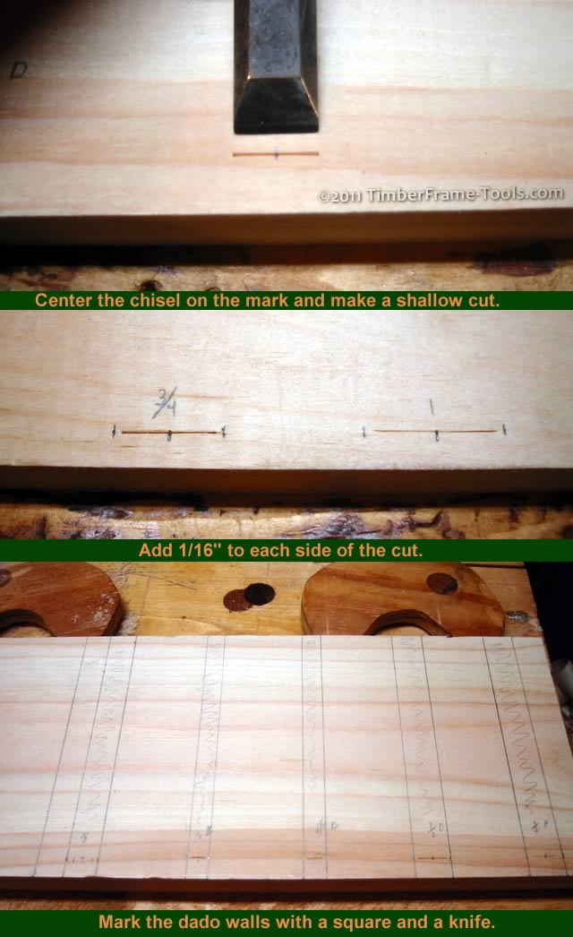chisel slot widths