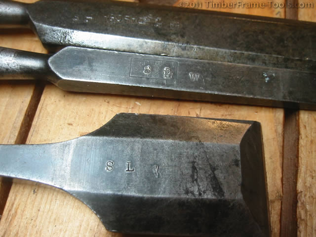 Tool owner stamps on chisels