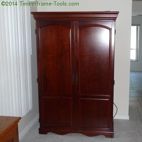 armoire desk closed