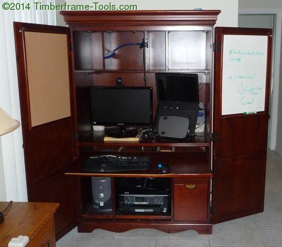 armoire desk open