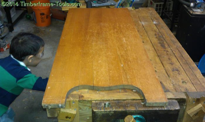 Side of maple dresser