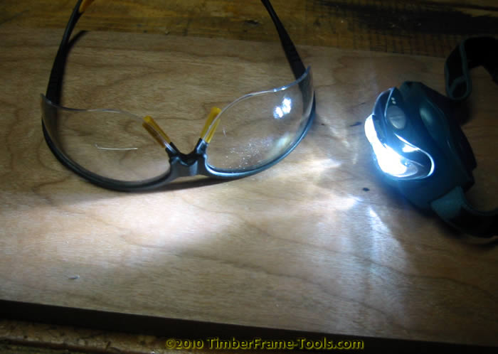 bifocals and headlamp for woodworking