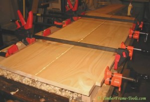 gluing up tongue and groove panels