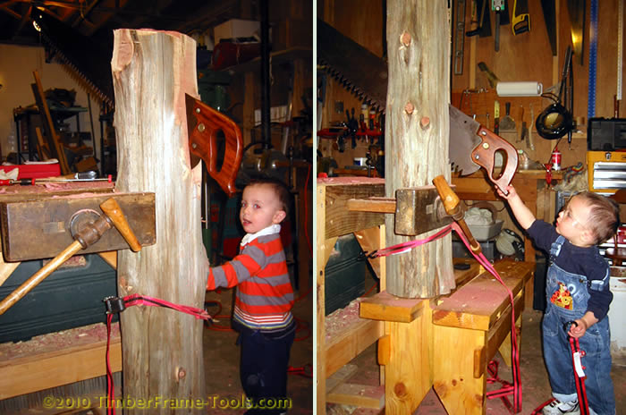 holding a log for rip sawing