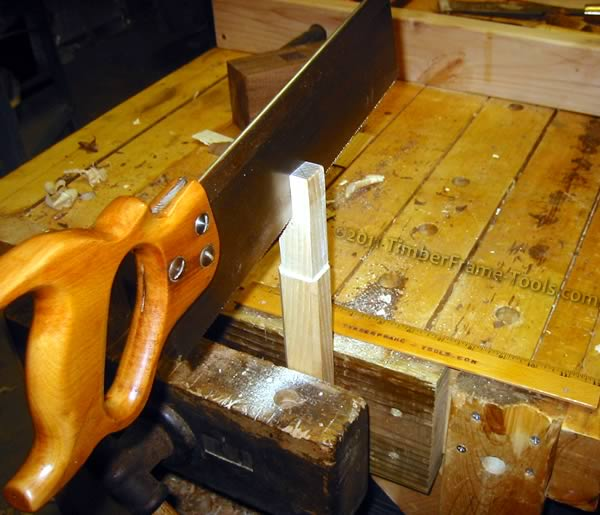 Sawing the wedge slot