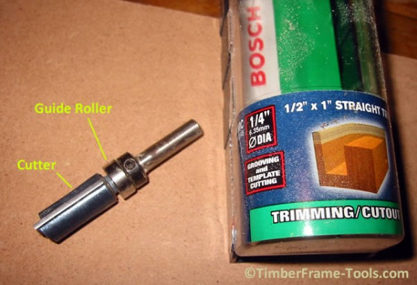 Pattern following router bit