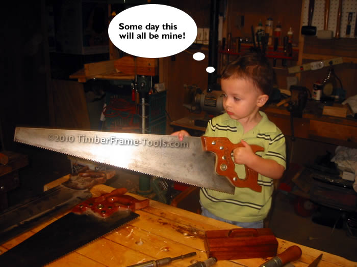passing saws on to son