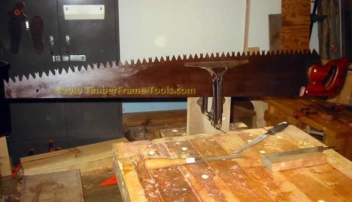 saw filing a big saw